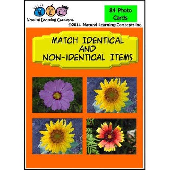 Flashkaarten Matchen identieke en niet-identieke voorwerpen