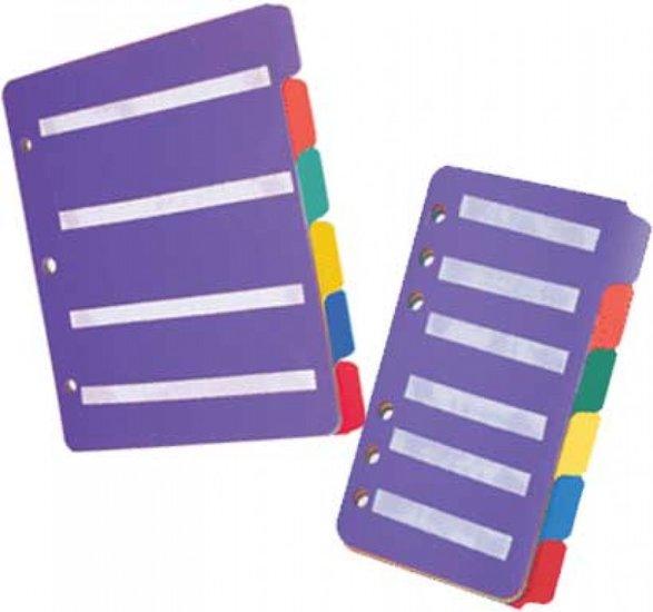 Insert Page Large (tabbladen) set van 6 (tab) aanvulbladen voor Pecsmap Large