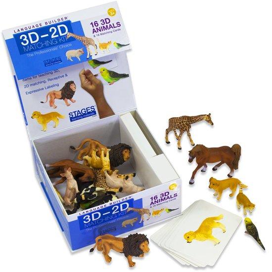 Language Builder: 3D-2D matchen dieren  - 108 -