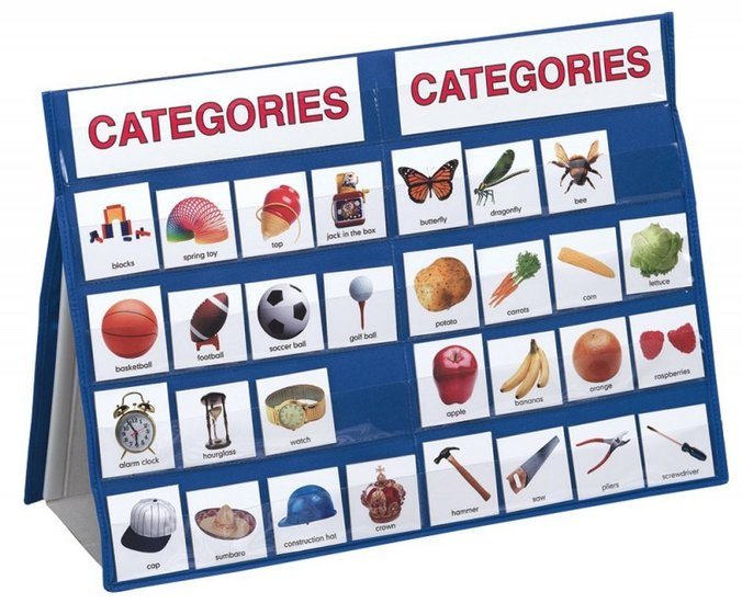 Categoriseren Leer sorteren met 100 kaarten en tafelstandaard