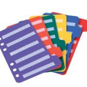 Insert Page Large (tabbladen) set van 6 (tab) aanvulbladen voor Pecsmap Large Pecs - 049 -