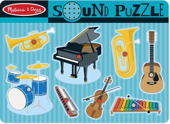 Instrumentenpuzzel met geluid