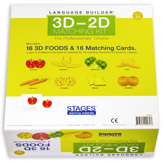 Language Builder: 3D-2D matchen voedsel  - 109 -