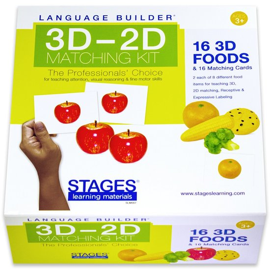 Language Builder: 3D-2D matchen voedsel