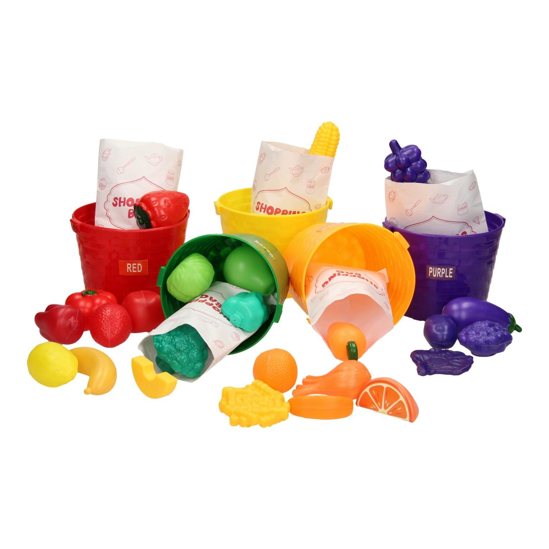 Voedselmandjes: Sorteren op kleur